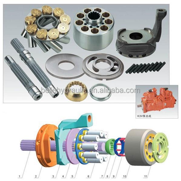 Nice discount for Kawasaki K3V180DT K5V140/180/200 pump parts & pump cartridge
