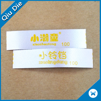 Adhesive Satin Label Printing Tear Off Tag For The Shoe Pad