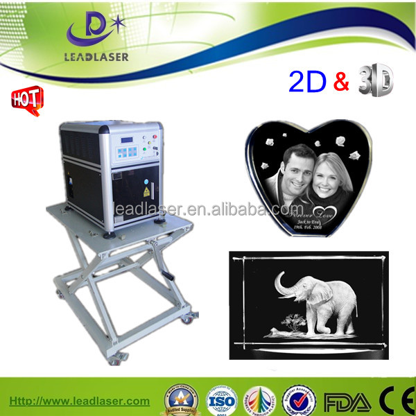 interesting and portable color laser 3d glass block inner printer
