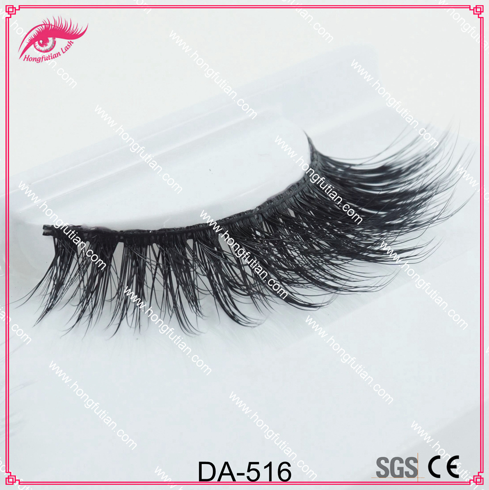 High quality false eyelashes 3D artificial mink lashes wholesale with private label eyelash packaging