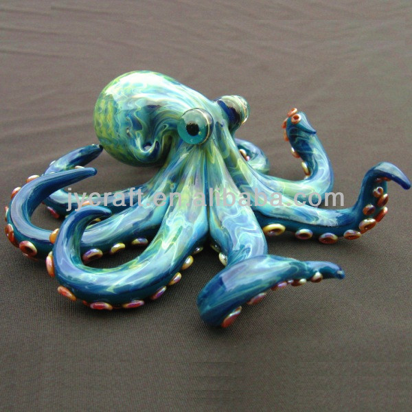 abstract resin high quality octopus sculpture