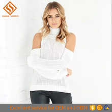2017 herbst-Winter neueste schulter offen reine farbe choker <span class=keywords><strong>wolle</strong></span> gestrickt frauen <span class=keywords><strong>pullover</strong></span>