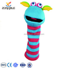 Fashion plush hand puppet kids toy cute funny stuffed animal knitted hand puppet