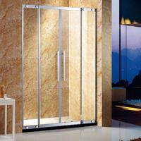 fashion tempered glass shower enclosures in 304 stainless steel for home