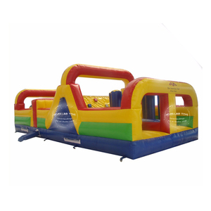 NEVERLAND TOYS inflatable obstacle course for sale,inflatable obstacle course with bouncer and slide for sale