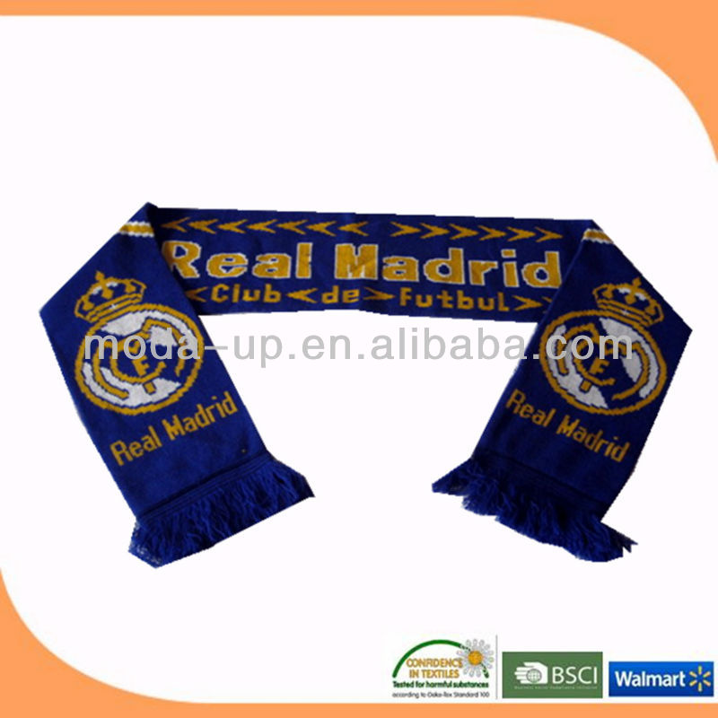 made in China football scarf scarf printing knitted scarf
