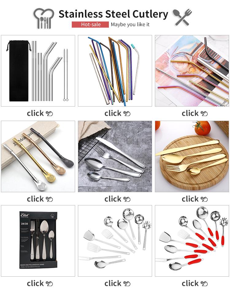 Amazon top seller 2019  spoon knife   flatware set cutlery stainless steel