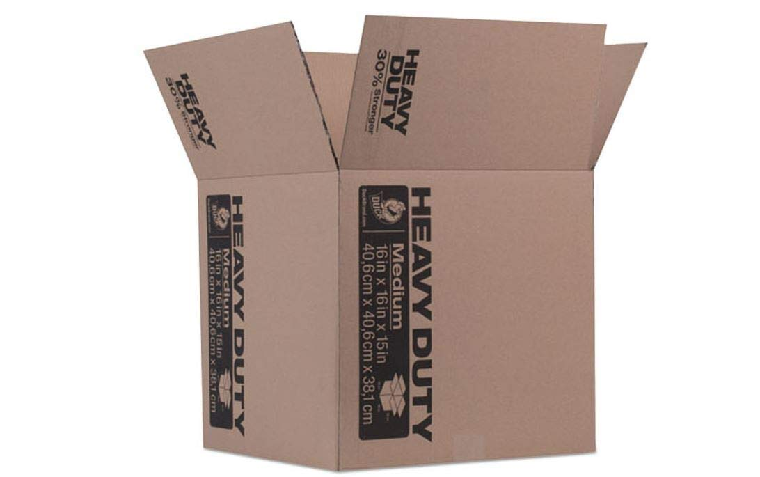 Heavy-Duty Moving Storage Boxes, 16l x 16w x 15h, Brown Heavy Duty Comfyleads