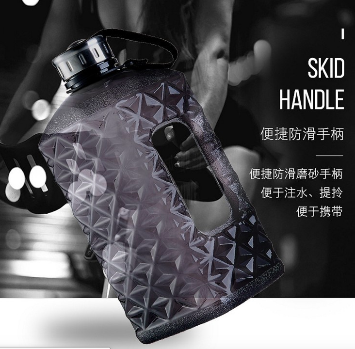 Factory offer free sample hot sale plastic best big 2.2l sport water bottle with handle