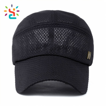 Full mesh metal patch baseball cap without top button hat outdoor fishing  hunting button sports men 073efece57c