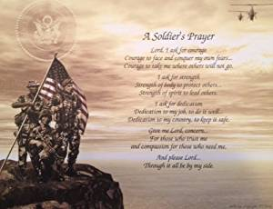 Army Soldiers Prayer Great Gift Idea For Fathers Day Birthday Veterans Any Occasion Husband Son