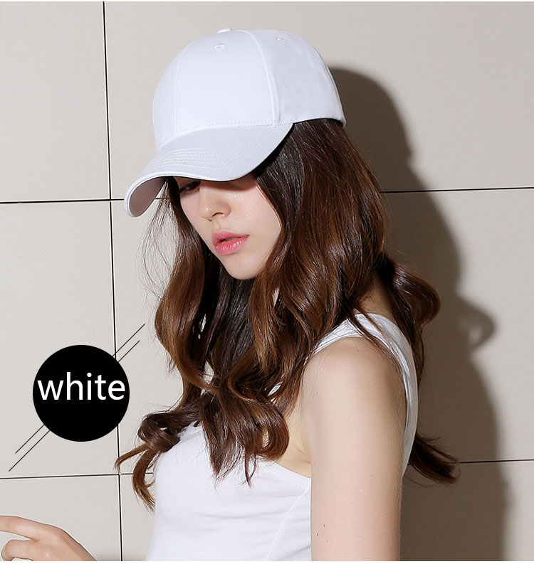 Black Adult Unisex Casual Solid Adjustable white Baseball Caps Snapback hats for men women