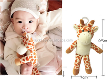 Wholesale New Design Funny Plush Toy Baby Friend Baby Gift Pacifier Toy Baby Doll With FDA Grade Silicone Spacifier