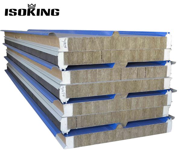 Rock wool insulated aluminum sandwich panel buy rock for Rockwool insulation panels