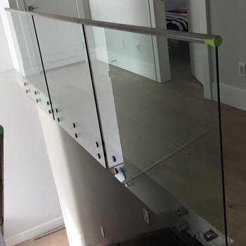 Interior Stainless Steel Glass Stair Railing / Guard Rail Price