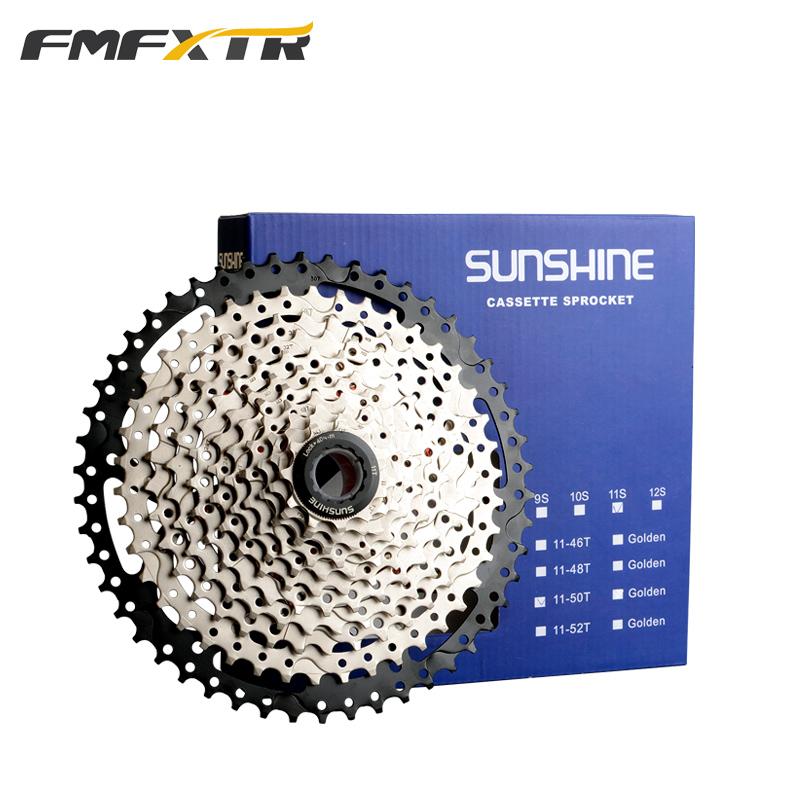 11 geschwindigkeit 11-46/52 t SCHWARZ Hohe-Festigkeit Leichte Fahrrad Freilauf Kassette Fahrrad Teile Breite Verhältnis MTB Kassette