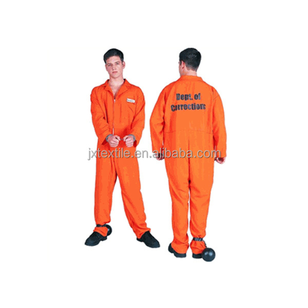 65 polyester 35 cotton fabric 230gsm twill 2/1 prisoner uniform fabric