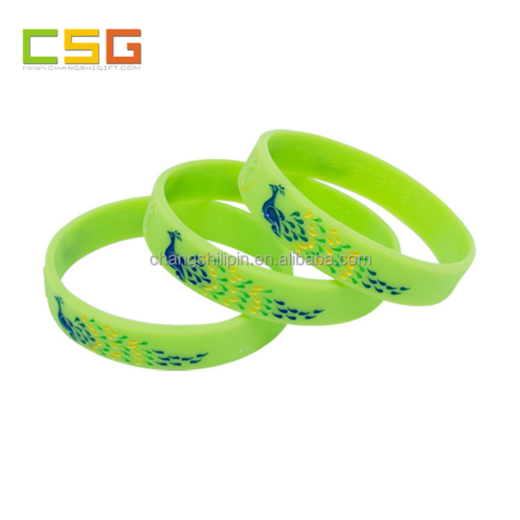 Sedex Factory Wholesale professional custom design debossed ink-filled silicone bracelets