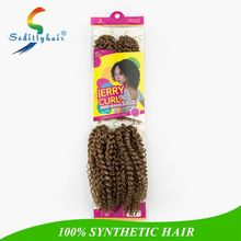 Wholesale synthetic kinky curly hair,sedittyhair Jerry Curl Hair 4 pcs/pack,malaysian deep curly crochet braids hair extension