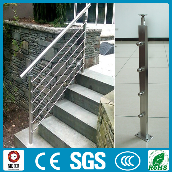 modern stainless steel sqaure handrails for exterior stairs View