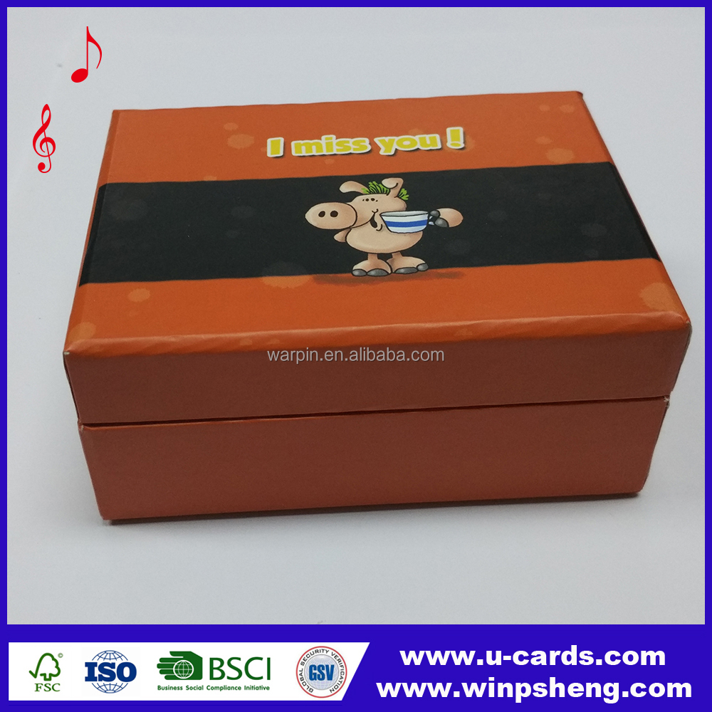 Customized high quality led light music box