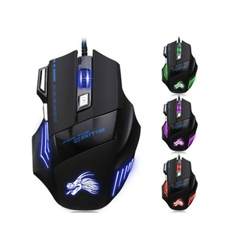 High Quality 7 Button 5500 DPI LED Optical Wired Gaming Mouse