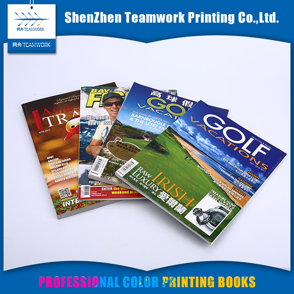 Saddle stitching custom fashion magazine low cost magazine printing