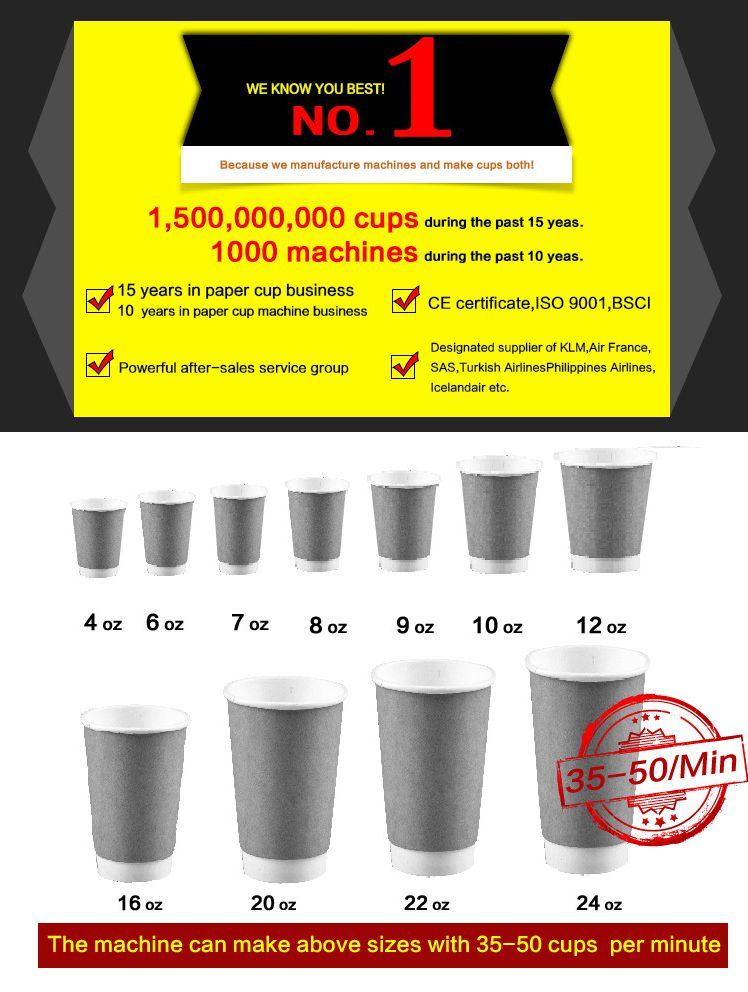 cup machine paper,ripple double wall paper cup machine,paper cup making machine