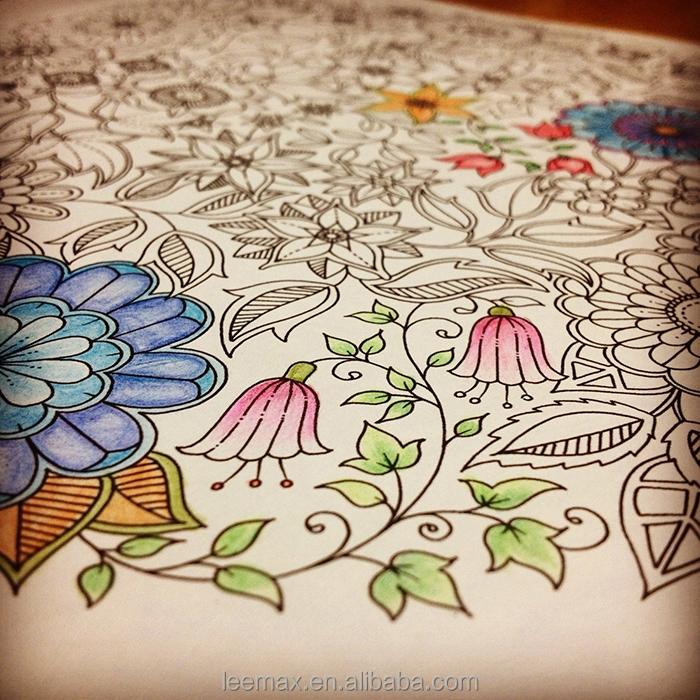 Jardín Secreto personalizado libro para colorear con crayones libro ...
