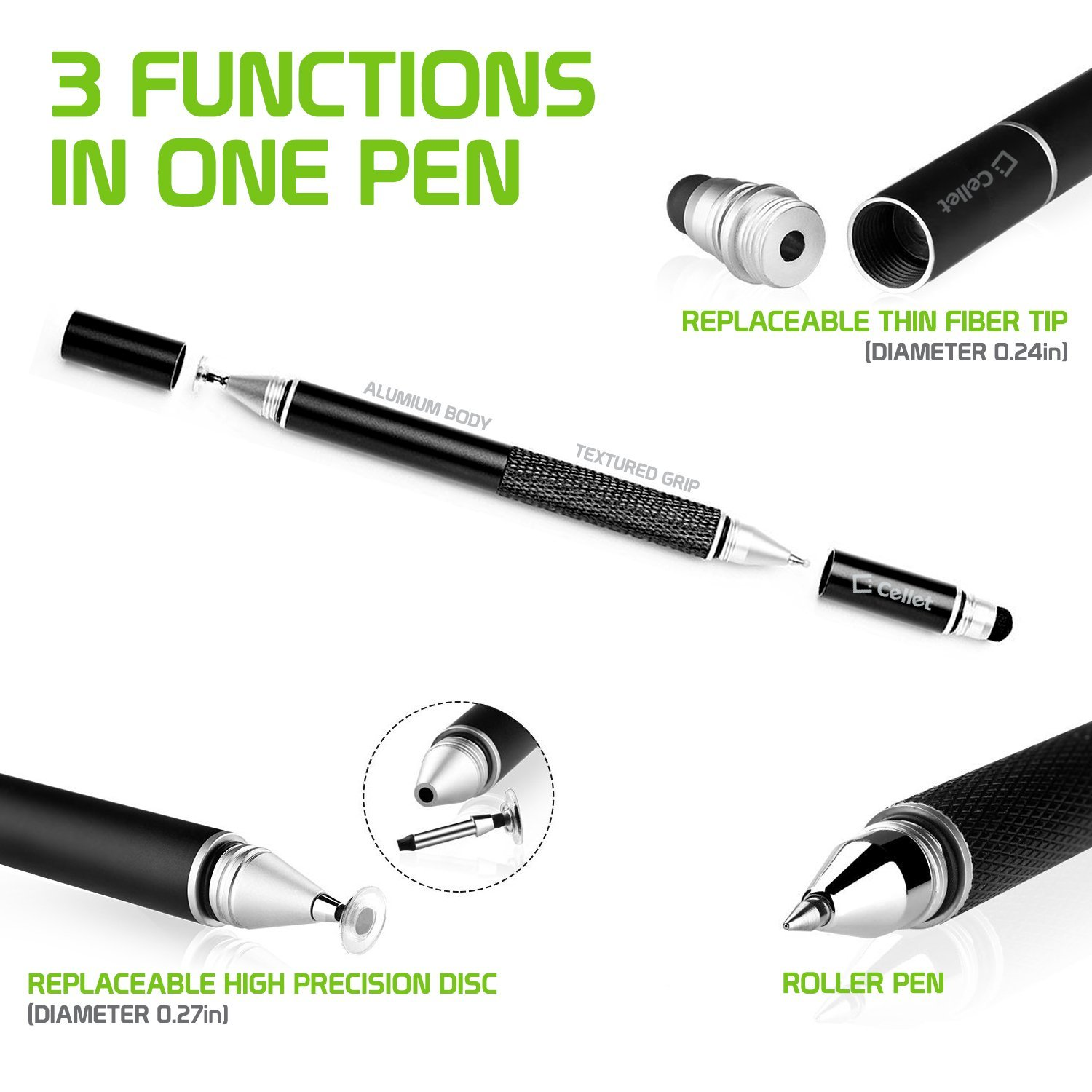 c6314d9cc85c7 Get Quotations · 3 in 1 Stylus Pen (Ballpoint Pen