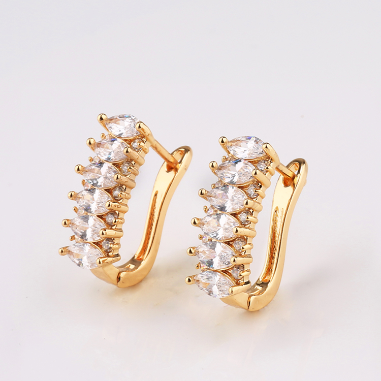 18k 14k gold plated wholesale fancy small gold earrings woman 2015 ...