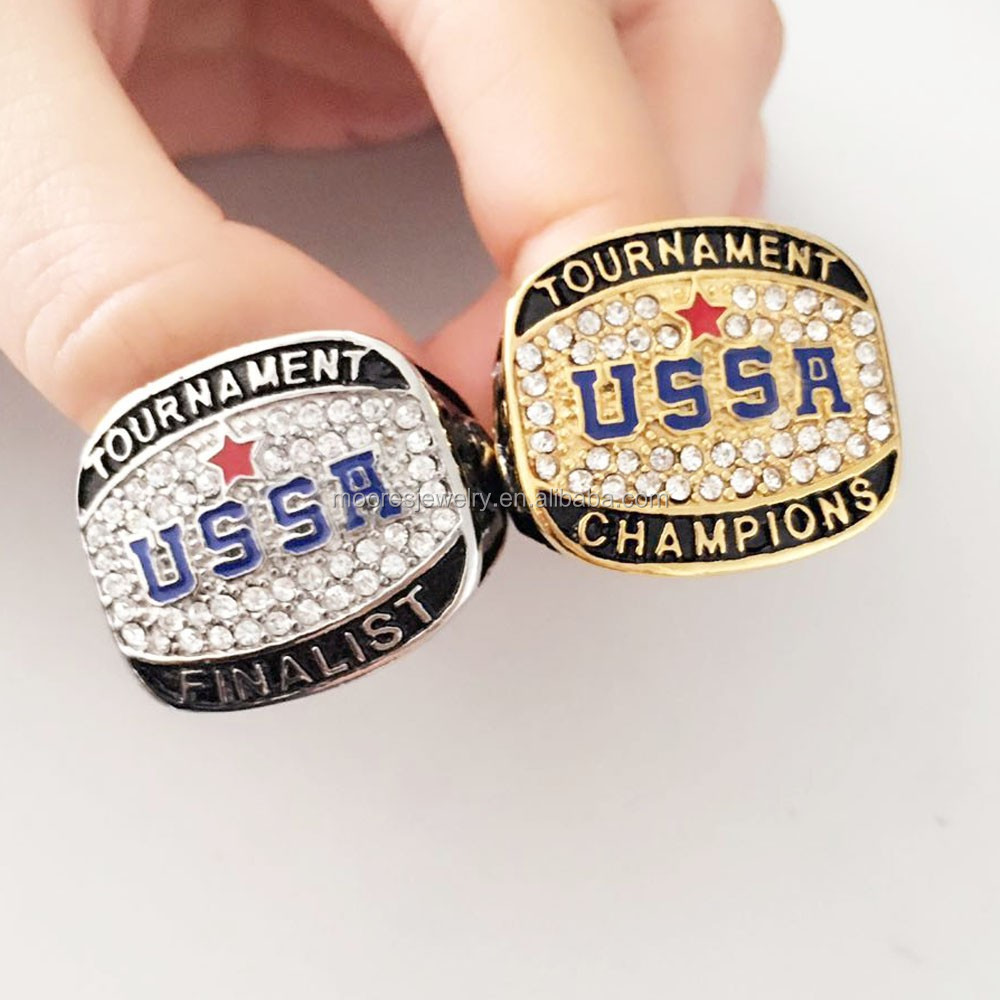 custom product softball rings for gold fancy baseball your usssa kid detail and own silver championship design