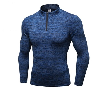 Latest Design Men Pullover Sweater Outdoor Thermal Underwear Zipper Fleece Jacket Sports Long Sleeve T-shirt XXL Sweatshirt