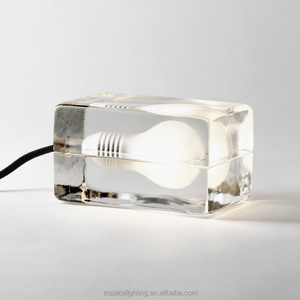 Fancy led G9 holder clear color modern table lamp