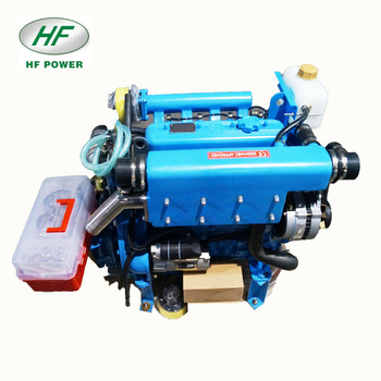 Hf-485m 46hp 4 Cylinder Small Diesel Marine Sailing Electric Boat Engine  With Transmission - Buy Electric Boat Engine,Fishing Boat Motor Marine  Diesel