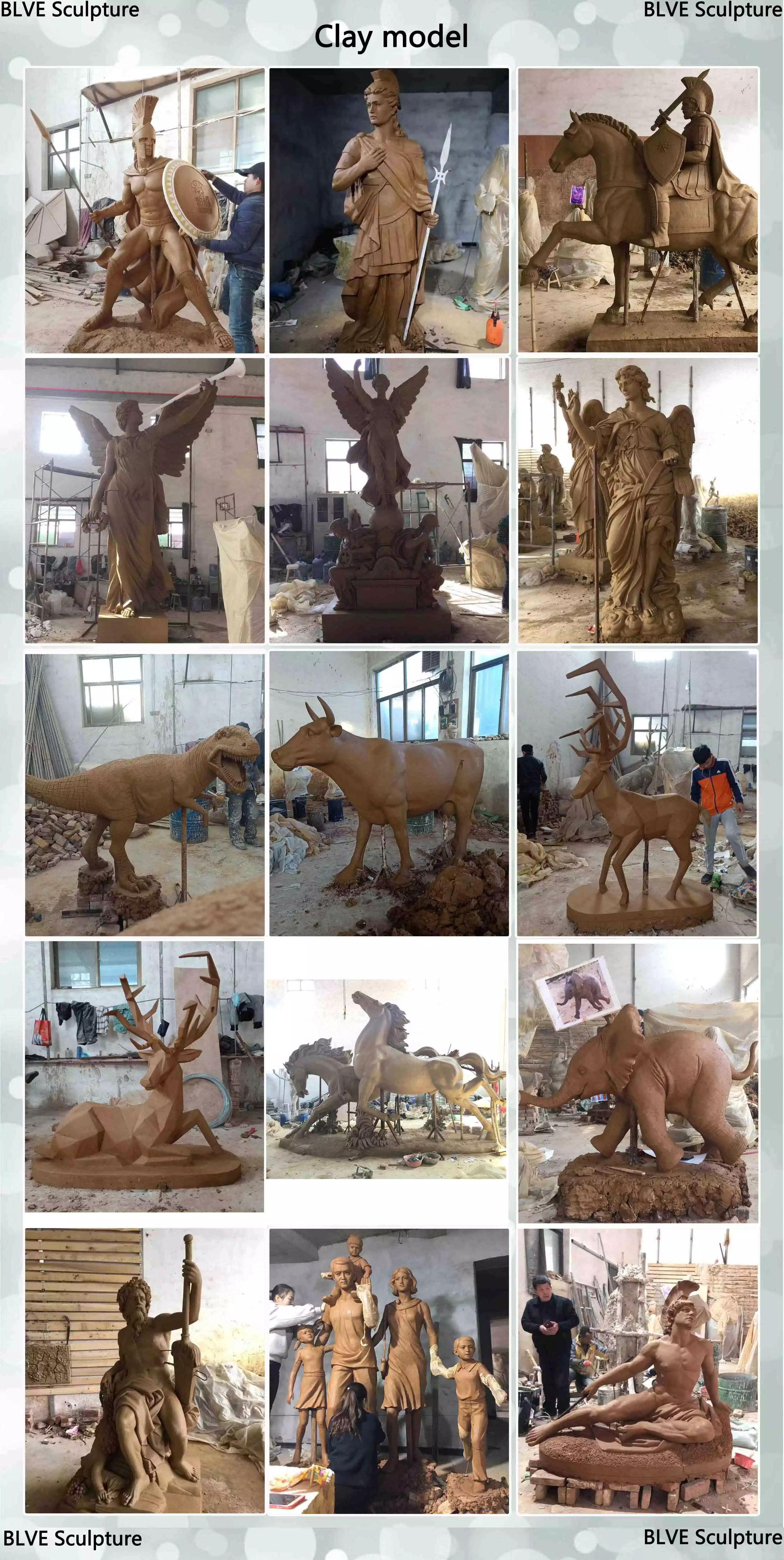 Commercio all'ingrosso su misura in metallo mestiere femminile erotico in ottone bronzo nudo scultura statua per la vendita per la decorazione domestica BSG-122