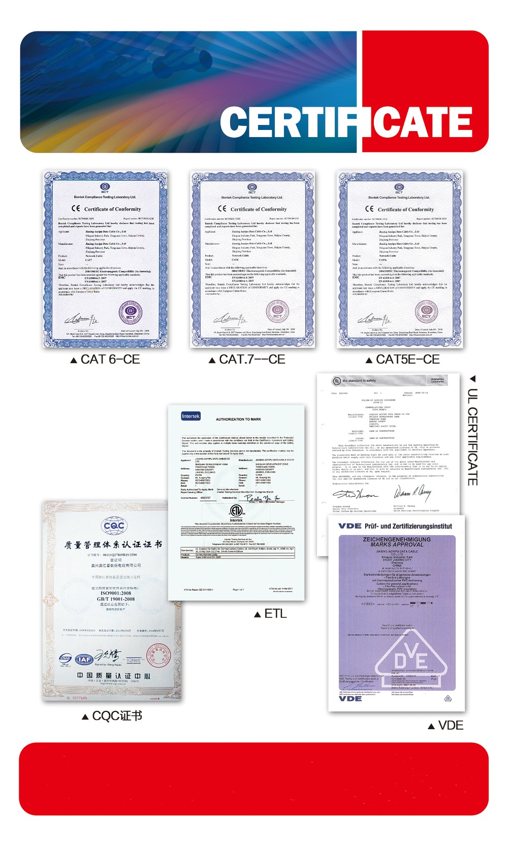 certification from HUXI CABLE CHINA.jpg