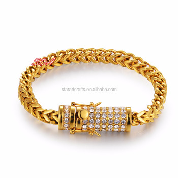 made lab bracelet gold ip heavy ebay franco p chucky mades