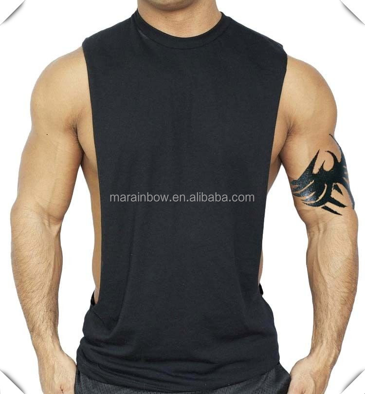plain Men's Black Workout Vest Tank Top bodybuilding gym muscle fitness football sleeveless shirt wholesale