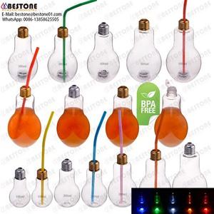 6a1ad1ade 100ml 200ml 300ml 400ml 500ml 700ml BPA free drinking juice beverage pet  LED light bulb bottle
