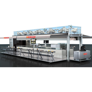 Commercial Movable Outdoor Mobile Street Fast Food Container House Kiosk Truck/Trailer For Sale