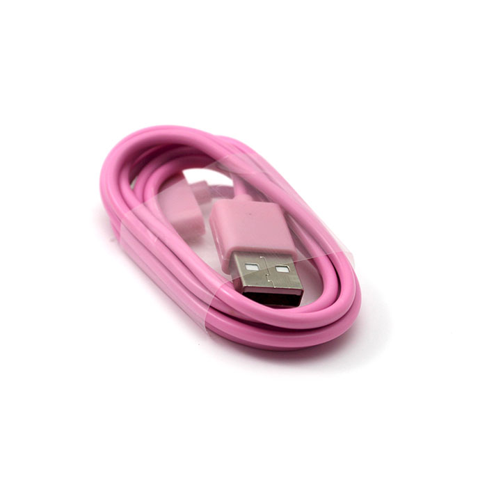 pink color usb sync data charging charger cable cord for. Black Bedroom Furniture Sets. Home Design Ideas