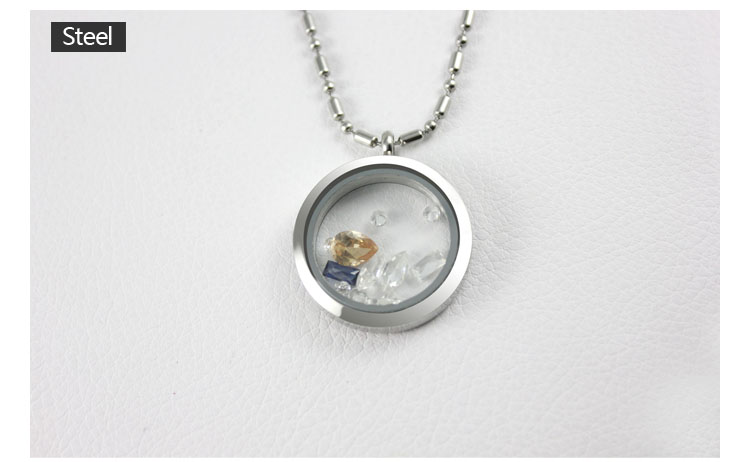316L stainless steel jewelry diy pendant glass memory locket