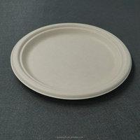 Wholesale molded pulp packaging tableware plate