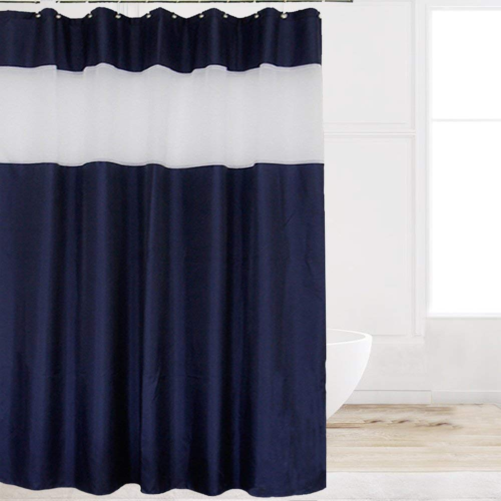 Get Quotations Eforcurtain Extra Long 72 By 84 Inches Polyester Fabric Bath Curtain With Free Rings