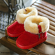 girls snow boots kids warm ankle boots Winter children new shoes high quality fur inside flat rubber