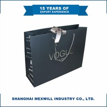 Custom size/logo/print promotional luxury folding/foldable reusable paper shopping bag