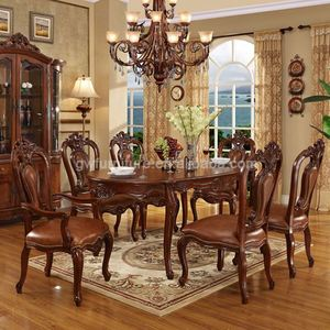 hand carved dining room furniture sets