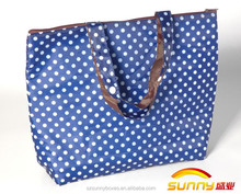 Promotion Waterproof Thermal Insulation Tote Foldable Handbag With Zipper Closure