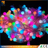 led black rubber wire string light cotton ball lighting white With CE& ROHS for Holiday and Party Decoration